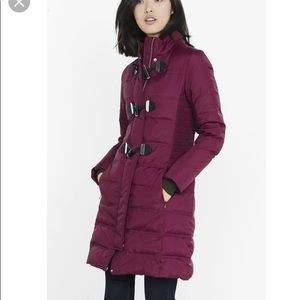 Like new Express hooded toggle puffer coat